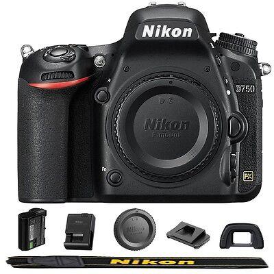 Nikon D750 24.3 MP FX-format Full HD 1080p Video Digital SLR Camera Body Only