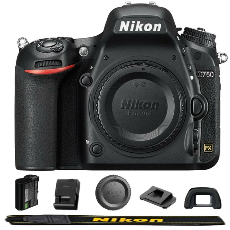 Nikon D750 24.3 MP FX Full HD 1080p Video Digital SLR Camera Body