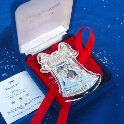 RARE• NEW • Reed & Barton 2000 Francis 1 BELL Sterling Silver Christmas Ornament