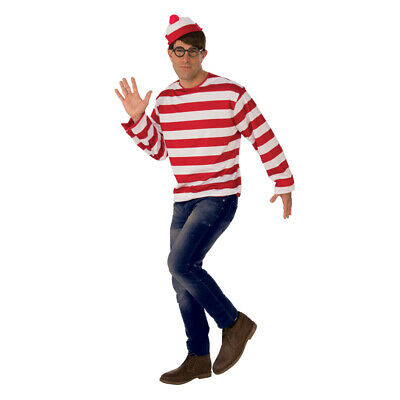 Adult Waldo Where's Waldo Halloween Costume (Halloween Costumes Waldo)