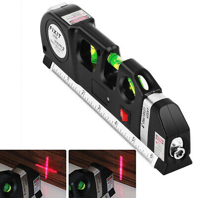 Metric Level - Laser Level Metric Tape Ruler Multipurpose Adjustable Standard Measure Line Tool