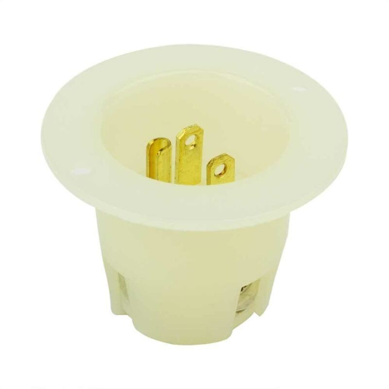 Flush Flange Mount 110 Volt Plug End Male