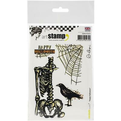 New Carabelle Studio Cling Rubber Stamp HAPPY HALLOWEEN SET free USA ship ()