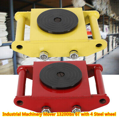 Heavy Duty Machine Dolly Skate Machinery Roller Mover Cargo Trolley 6t 13200lbus
