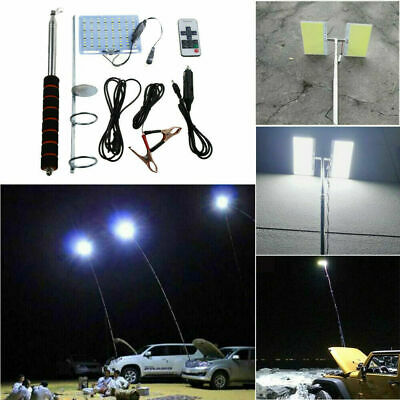 Telescopic COB Rod LED Fishing Camping Lantern Light Lamp Hiking BBQ 12V X0p Bbq Lights 12 Rod