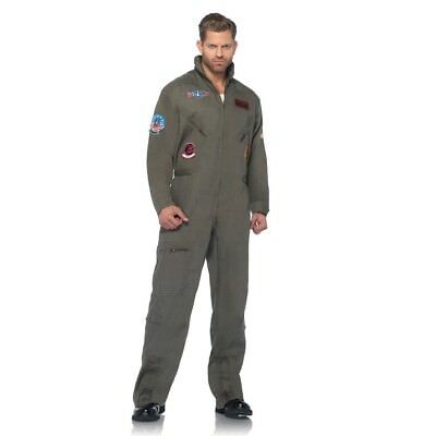 Top Gun Jumpsuit Adult Mens Costume, HALLOWEEN Pilot, TG83702, Leg Avenue