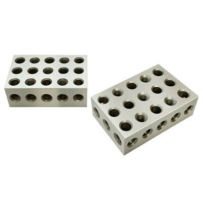 2 Pc 2 4 6 Metal Block 23 Holes Milling Drilling Machining Ultra Precision .0003