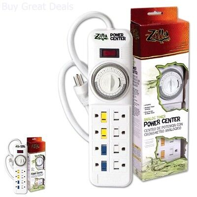 Terrarium Heat Power Center Reptile Habitat Lighting Analog Timer Power Strip