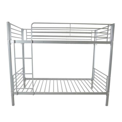 Metal Twin over Bunk Beds Frame Ladder Bedroom Dorm for Chil