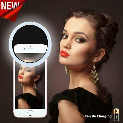 Rechargeable Phone Light Portable LED Phone Ring Light For iPhone Samsung US