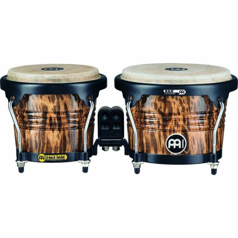 Meinl Free Ride Series Wood Bongos 6 3/4 & 8 Leopard Burl