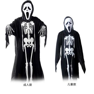 tume Set Halloween Party Skeleton ghost Cosplay clothes (Mj Halloween-kostüme)