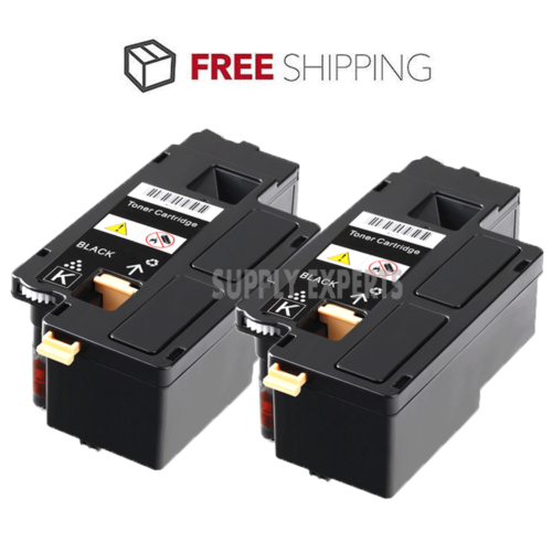 2pk 332-0399 3320399 4G9HP Black Printer Laser Toner Cartridge for Dell C1660W