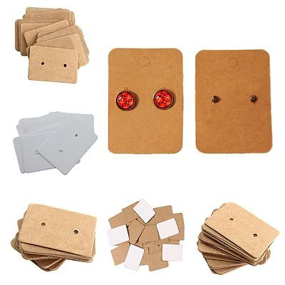 Kraft Package Ear Studs Hanging Cards Paper Cards Display Cards Earring Holder