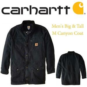 NEW Carhartt mens big-tall Carhartt Mens Big  Tall M Canyon Coat Condtion: New, XXX-Large, Black