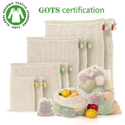 Fruit and vegetable storage bag reusable eco-friendly 100% organic biodegradable
