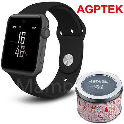 AGPTEK Bluetooth Smart Wrist Watch SIM Phone Mate for Phone IOS Android Samsung