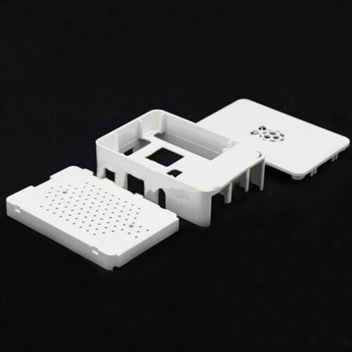 ABS Cover Box Case Raspberry Pi 3 2 Transparent/&Cooling Fan//White//Black BBC