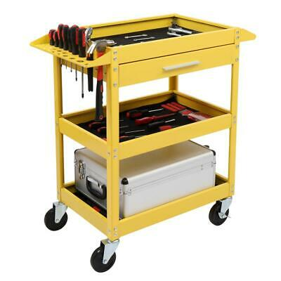 Three Trays Rolling Tool Cart with Wheels & Drawer Tool Stor