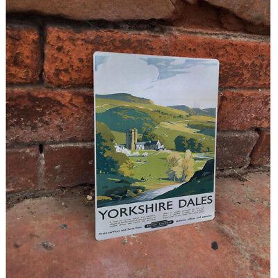 Yorkshire Dales Travel - VINTAGE ADVERTISING ENAMEL METAL TIN SIGN WALL PLAQUE