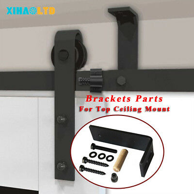 Ceiling Mount Bracket Connect  Parts For Top Ceiling Sliding Barn Door (Sliding Door Parts)