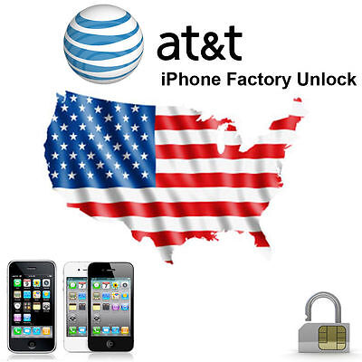 AT&T Factory Unlock Service iPhone 8 7 7+ 6s 6s+ 6 6+ 5s 5c 5 4s 4 3gs iPad Code