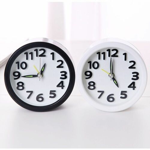 Home Decor Cute Children's Bedside Students Round ABS Fashion Alarm Clock