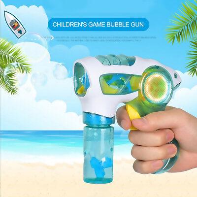 LED Flashing Light Up Bubble Machine Blowing Bubble Blower Kids Child Funny Toy - Flashing Light Machine