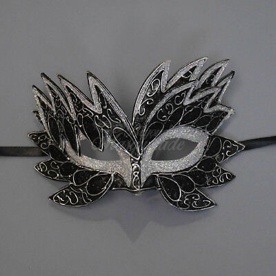 Sea Unicorn Mardi Gras Venetian Masquerade Mask for Women M7240 (Black/Silver] (Mardi Gras Woman)