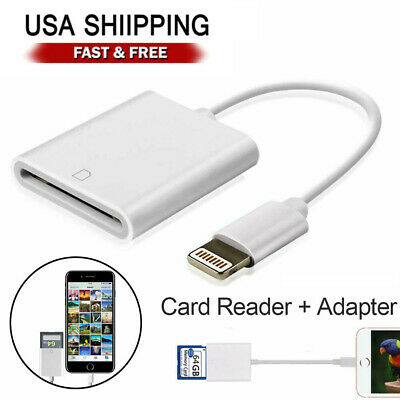 SD Card Adapter Camera Reader for iPad iPhone 6 6S 7 8 Plus 11 12 Pro X Xs Max