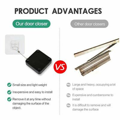Us Punch-free Automatic Sensor Door Closer Portable Home Office Doors Off Closer