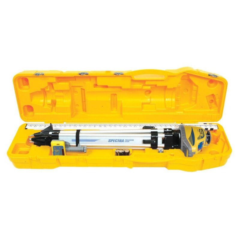 Spectra Precision LL300N -2 Self Leveling Laser w/ Tripod, Rod, HL450 Receiver