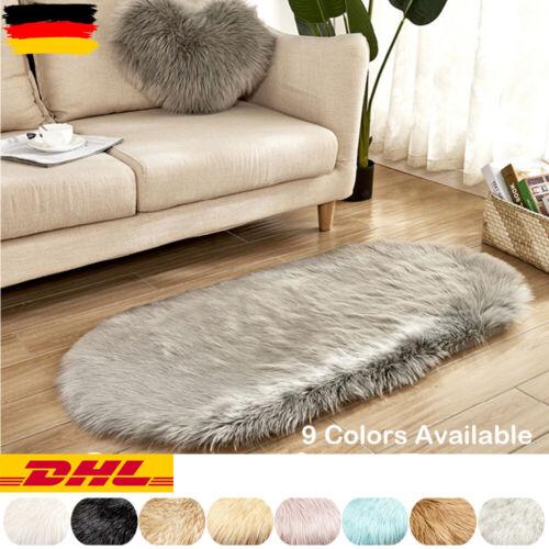Langflor Shaggy Waschbar Weich Teppich Fellteppich Kunstfell Hochflor Mat Carpet