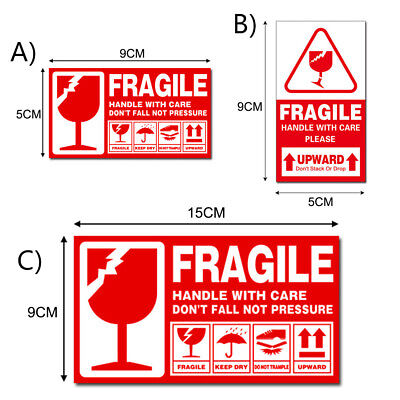 2401000pcs Fragile Sticker Handle With Care This Side Up Label 95cm 159cm