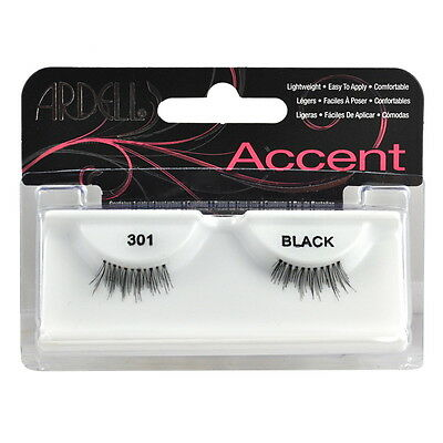 (Ardell Fashion Eye Lash Accent 301 Black One Pair)