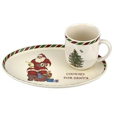 Spode Christmas Tree Cookies for Santa Tray with Mug ()