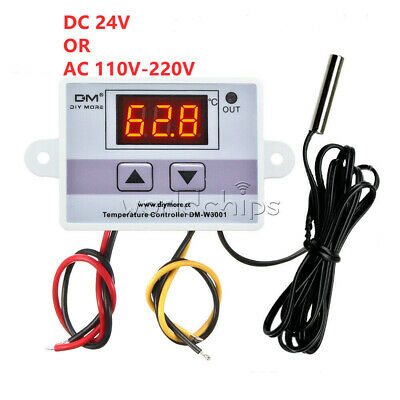 Dc 10a 24v Ac 110v-220v Temperature Controller Thermostat Control Switch Probe