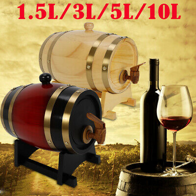 OAK BARRELS FOR WHISKEY OR SPIRITS 1.5L/ 3L /5L / 10Liters / Wood Liquor Keg USA ()