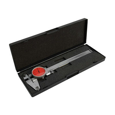 Red - 4 Way Dial Caliper 6 Stainless Steel Shock Proof 0.001