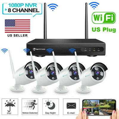 US 1080P HD WiFi Security Camera System Wireless Outdoor IP CCTV 2MP...