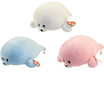 Baby TY - SET of 3 SEALS (Doodles, Squirt & Tiny) (Medium Size - 10 inch) BabyTY