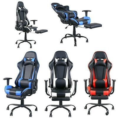 High Back Racing Style Gaming Chair Reclining Office Executive Task Computer New