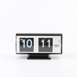 Twemco Retro Modern Flip Clock QT30T Black German Movement Made in HK
