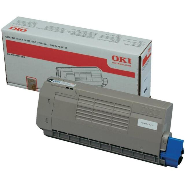 BRAND NEW GENUINE OKI 44318608 / 43866108 BLACK ORIGINAL LASER TONER CARTRIDGE