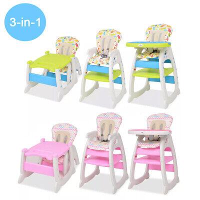3-in-1 Baby Hochstuhl Babystuhl Kinderstuhl Esstisch mit Essbrett Verwandelbar ()