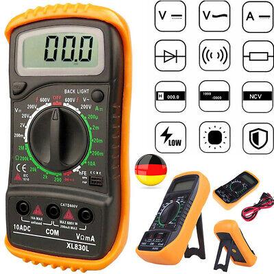 Kabel LCD Digital Multimeter Messgerät AC DC Strommesser Voltmeter Amperemeter