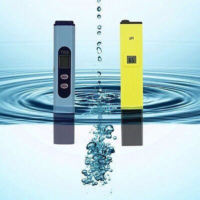 Digital Ph Meter + TDS Tester Aquarium Pool Hydroponic Water Monitor 0-9999 PPM