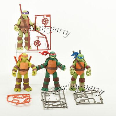 Teenage Mutant Ninja Turtles Movie Figures Set: Leo Ralph Donnie Mikey New](Turtles Kids)
