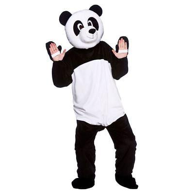 Adult Giant Panda Fancy Dress Mascot Costume Animal Zoo Wild Bear Unisex New (Panda Bear Mascot Costume)