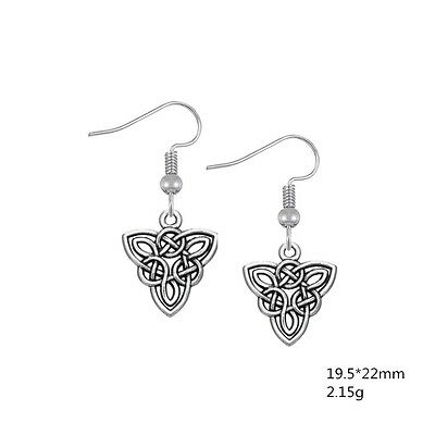 Celtic Trinity Knot Double Sided Earrings